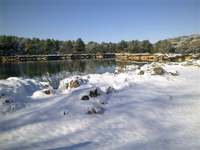 Lagunas de Ruidera nevadas