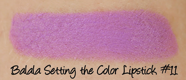Balala Setting the Color Lipstick #11 Swatches & Review