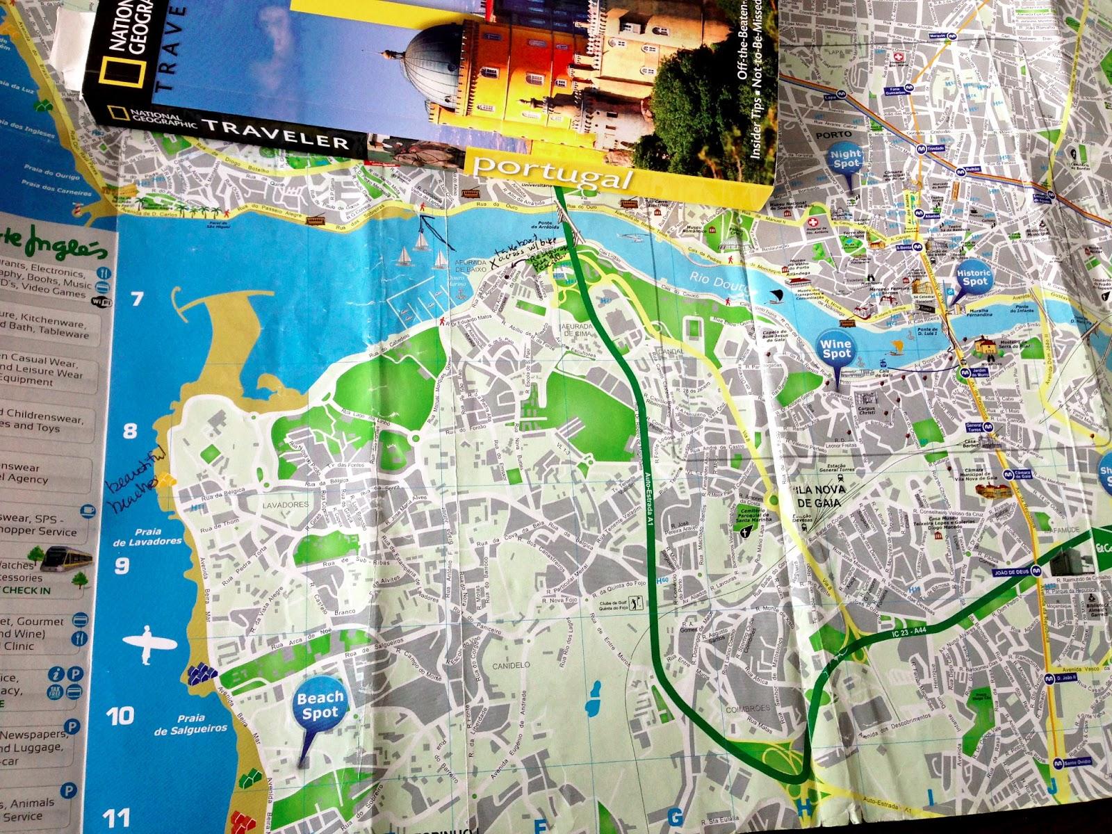 Cycling from Porto to Beach Spot Sunshine coastal views and – Porto Tourist Map