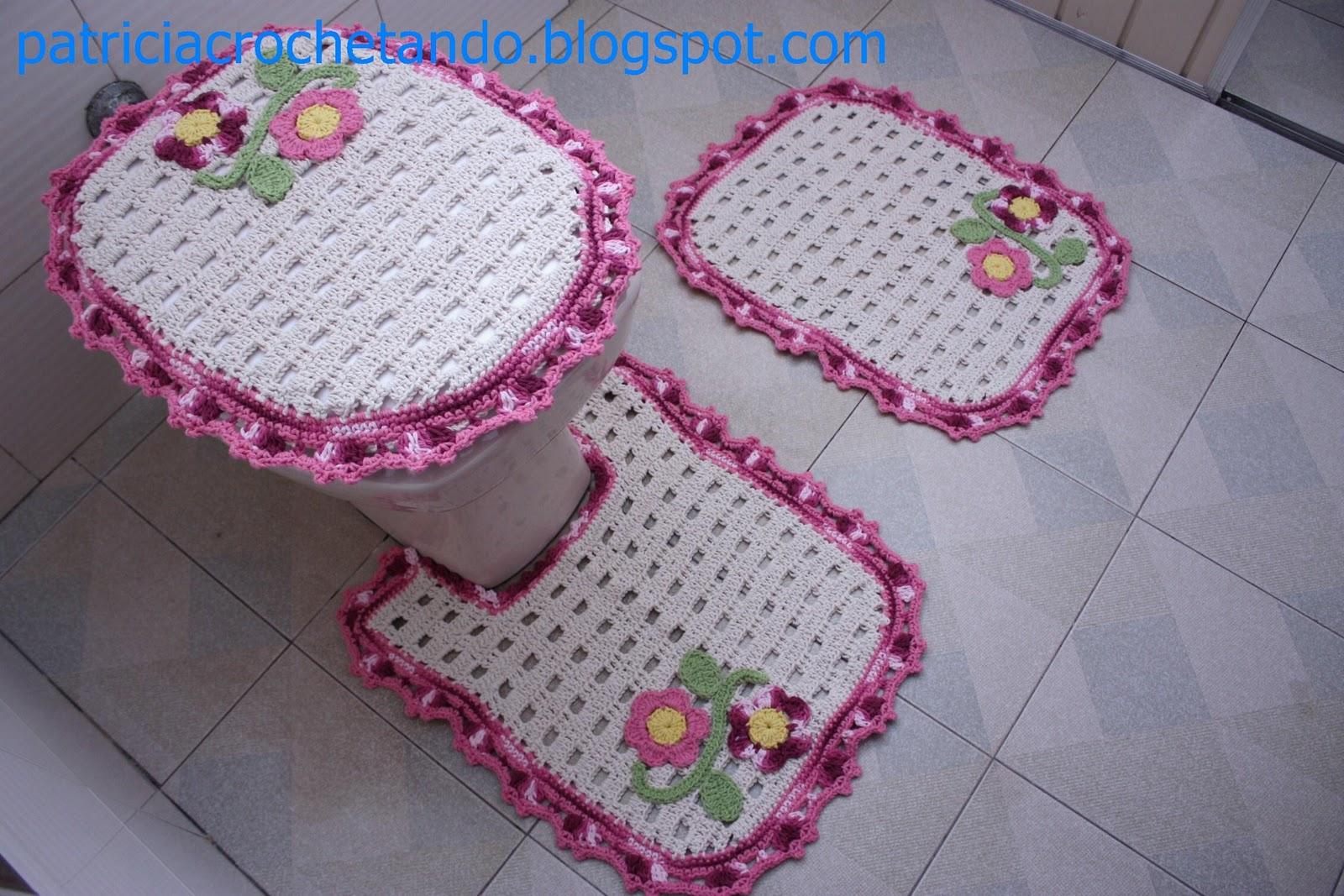 Jogo De Banheiro Classic Rosa Passo A Passo : Patricia crochetando jogo de banheiro croche rosa com