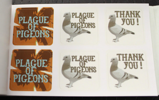 plague of pigeons moo stickers