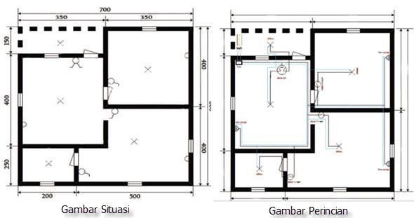 Denah instalasi listrik rumah sederhana perhatikan pembuatan denah instalasi listrik di rumah tinggal mikirbae ccuart Choice Image