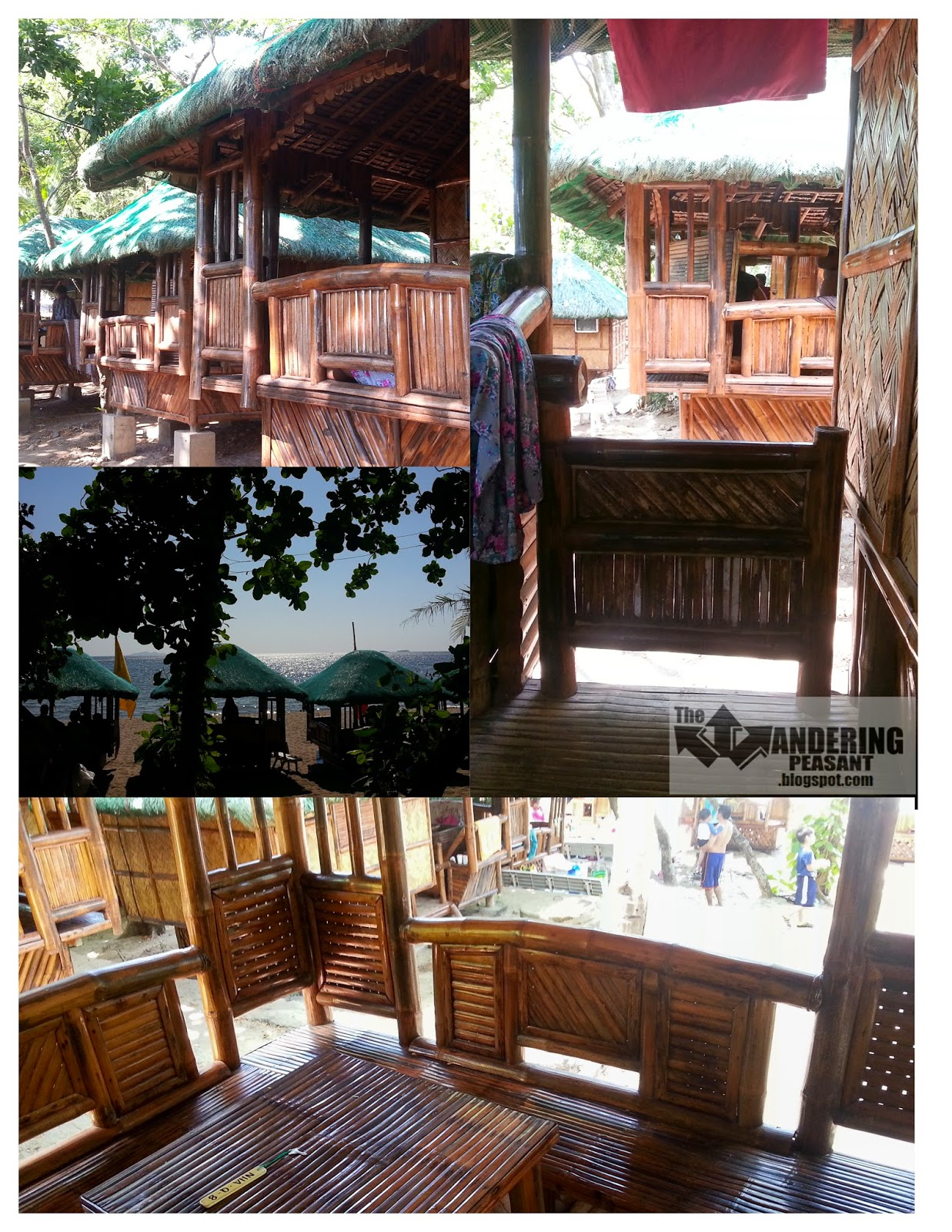 Nipa hut room with a splendid beach view from our cozy little terrace