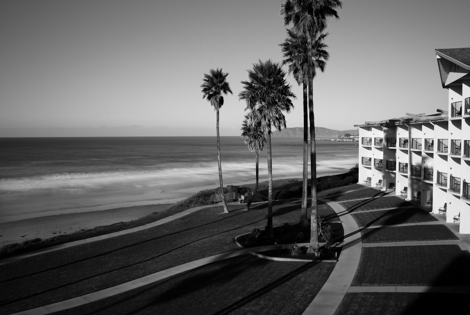 Retro Black And White Beach