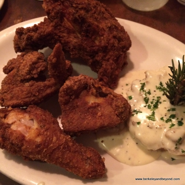 Southern fried chicken at Bumbleberry Flats at Pioneer Gambling Hall in Laughlin, Nevada
