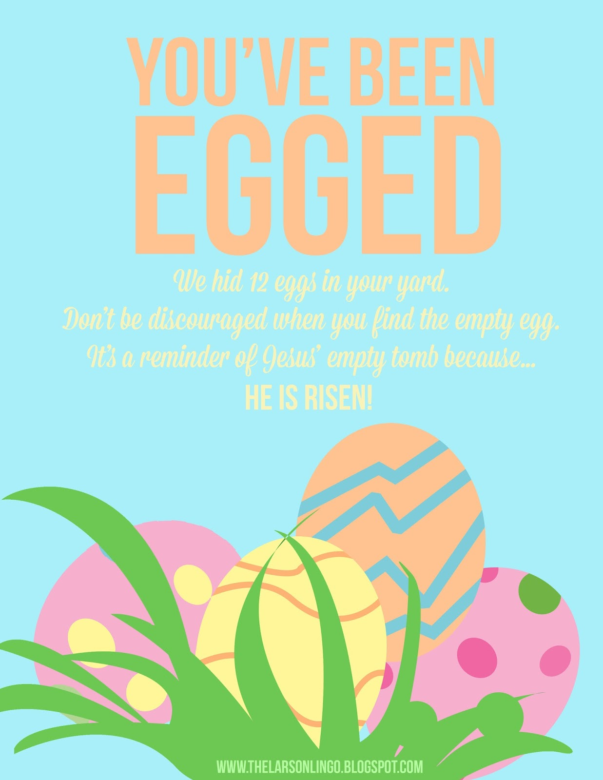 graphic regarding You've Been Egged Printable identify The Larson Lingo: Youve Been Egged! Free of charge Printable