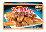 cheddar box The new SUPERPRETZEL PretzelDogs
