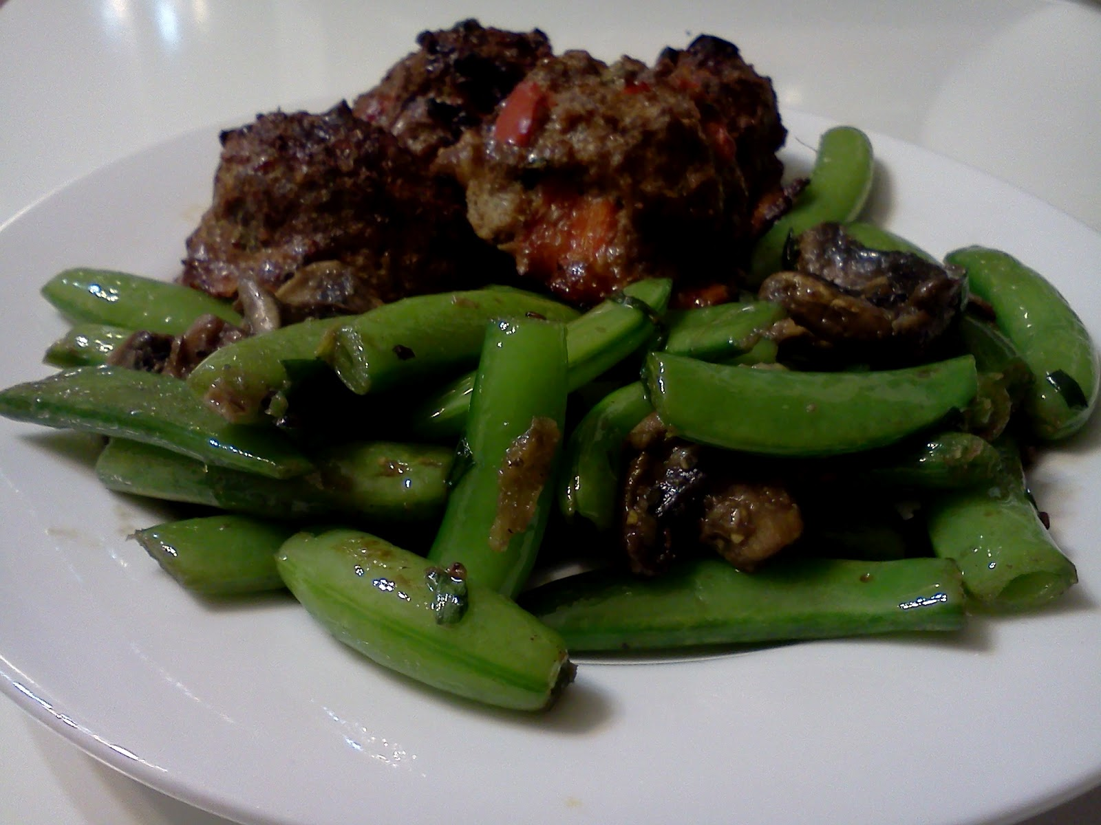 Chapina Chows: Thai Basil Meatballs with Stir Fried Snow ...
