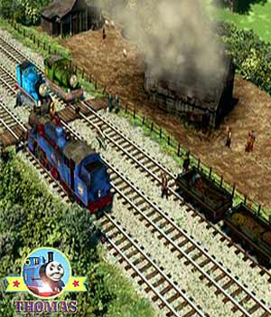 Percy train Thomas and friends Day of the Diesels film big Belle the tank engine farm fire rescue