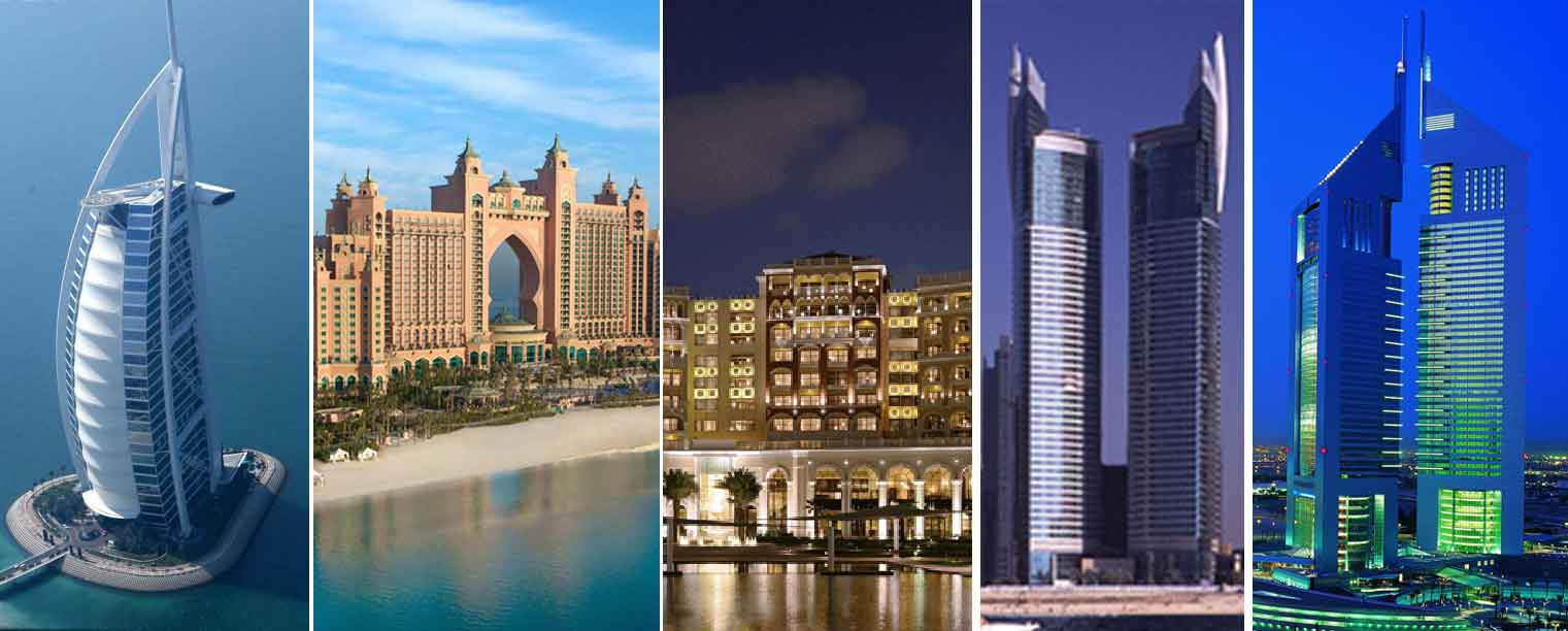 Top 5 luxury hotels in dubai dubai luxurious hotels for Dubai famous hotel