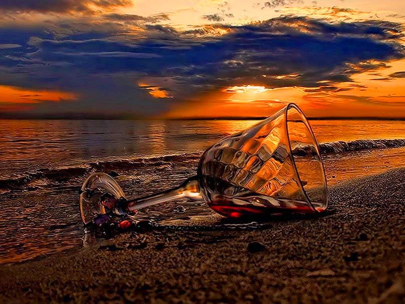 sunset-with-a-glass