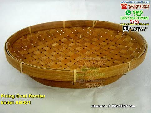Piring Oval Bambu