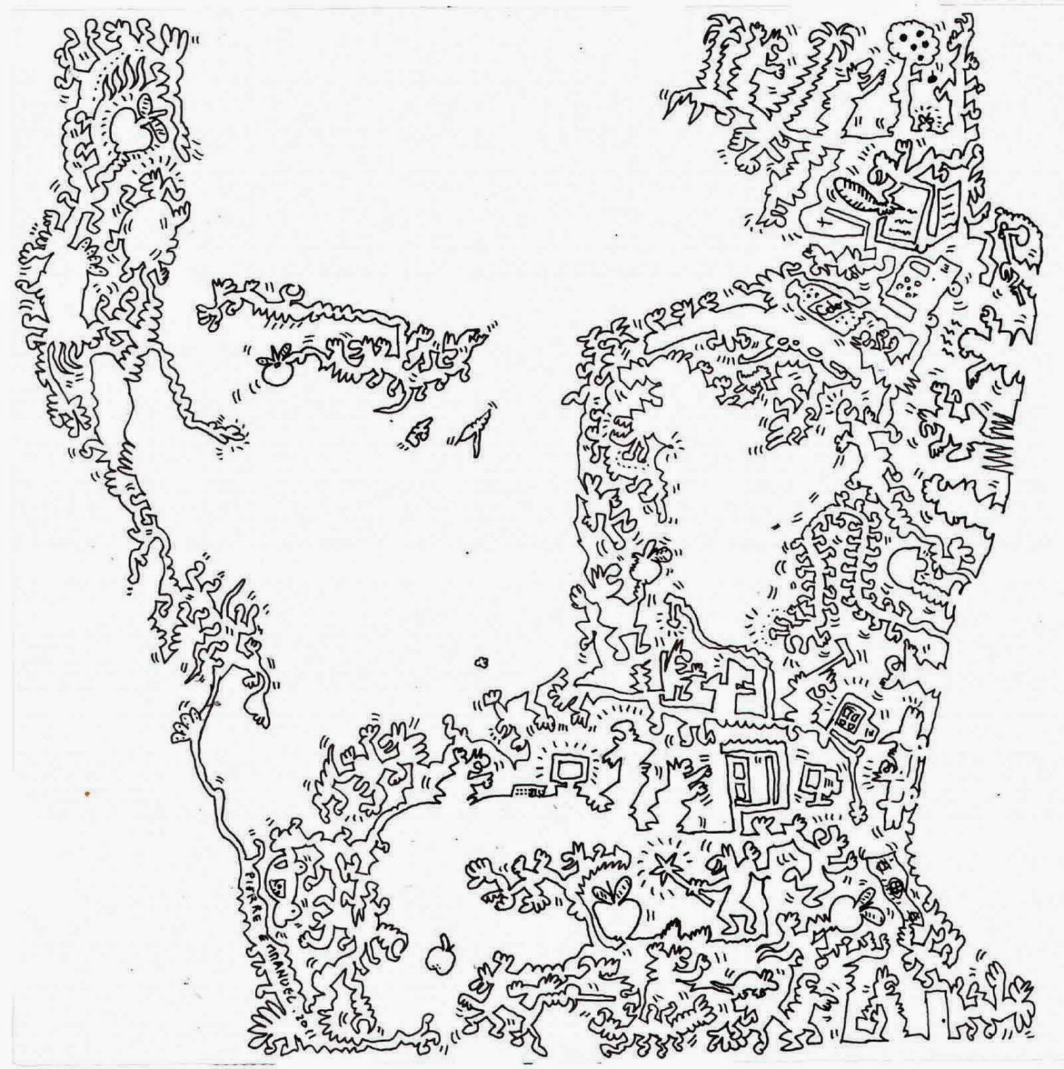 Single Line Box Art : Simply creative single line doodle portraits by pierre