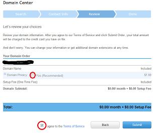free domain order - free web hosting google