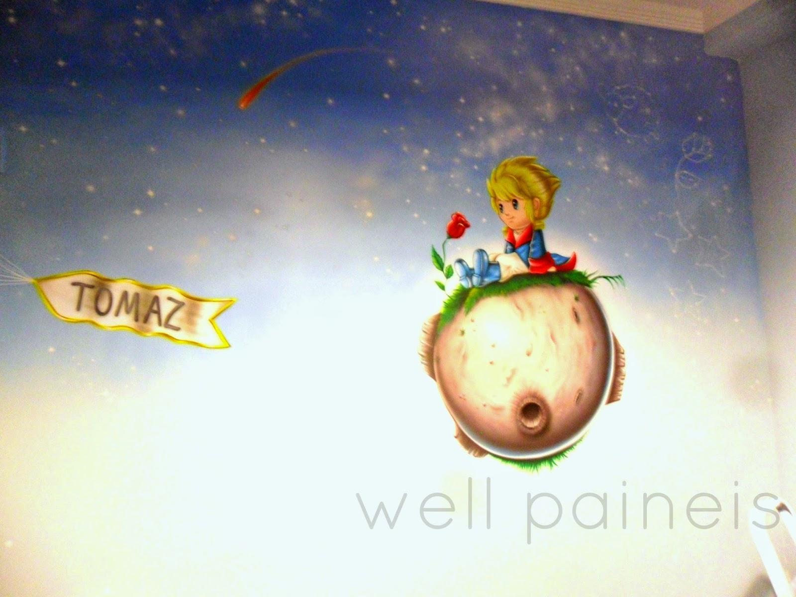 Quarto Infantil O Pequeno Principe ~ aerografia em quarto infantil , o pequeno pr?ncipe , by well paineis