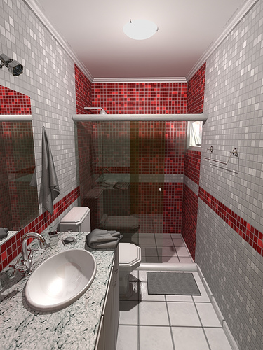 Dicas para decora o de banheiros pequenos arte de fazer for Fotos de apartamentos bonitos