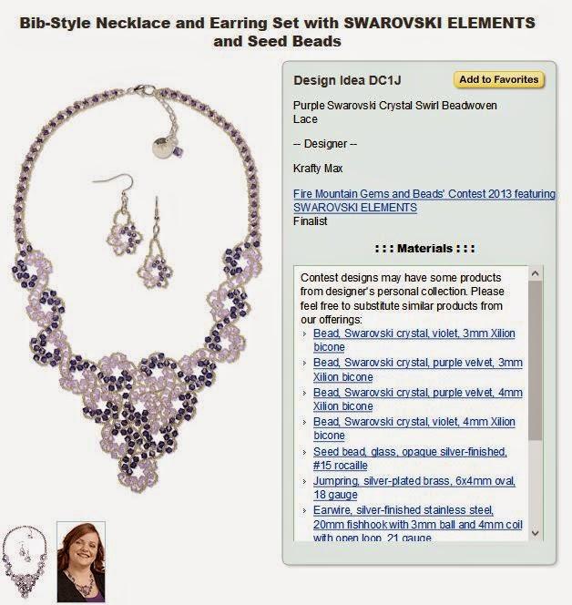 Purple Swarovski Crystal Swirl Beadwoven Lace