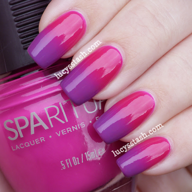 SpaRitual Color Trip and Illume gradiend manicure
