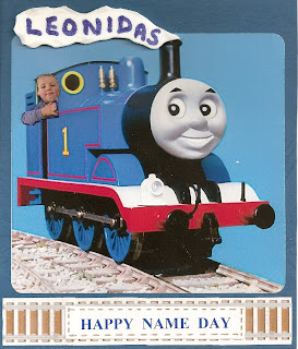 Thomas the tank engine greeting card