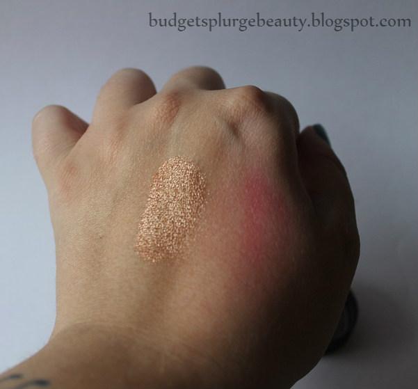 mica cosmetics bronze eyeshadow swatch