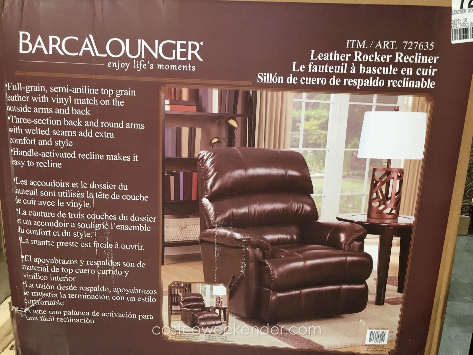 Barcalounger Leather Rocker Recliner Chair