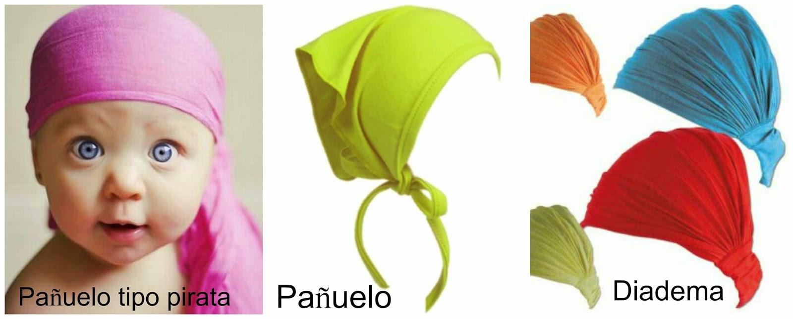O obradoiro de Klor: Ropa para bebé: pañuelo para la cabeza con patrón.
