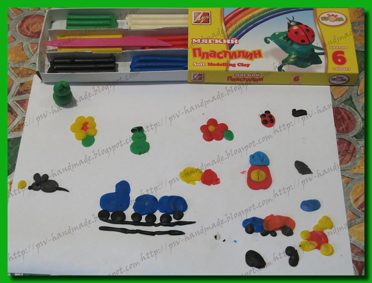 Совместные покупки - рисуем пластилином с ребенком