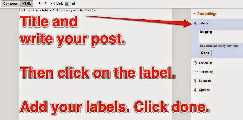 Blogger label