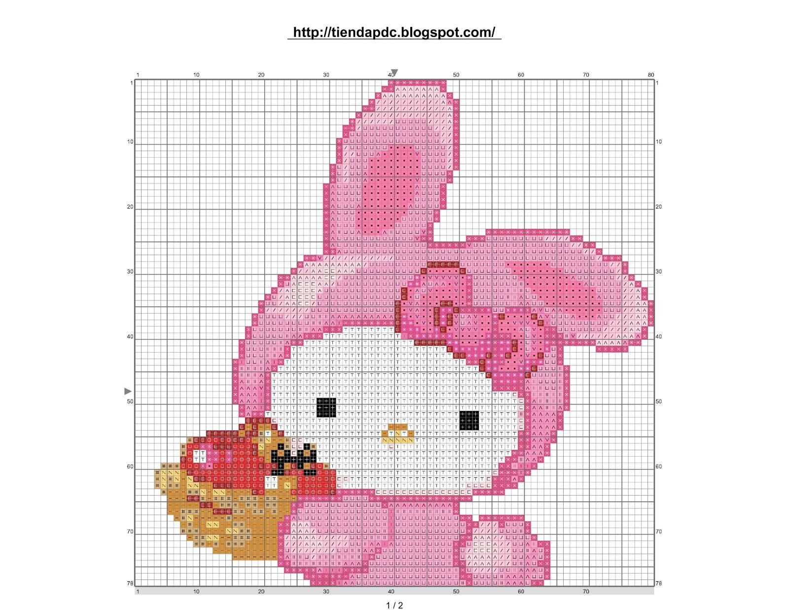 Dibujos Punto de Cruz Gratis Hello Kitty cross stitch pattern