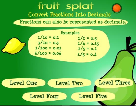 http://www.sheppardsoftware.com/mathgames/fractions/FractionsToDecimals.swf