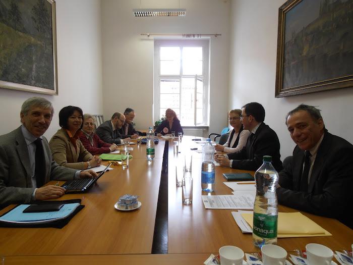 1ère phase de la réunion au Ministère Tchèque de l'Education