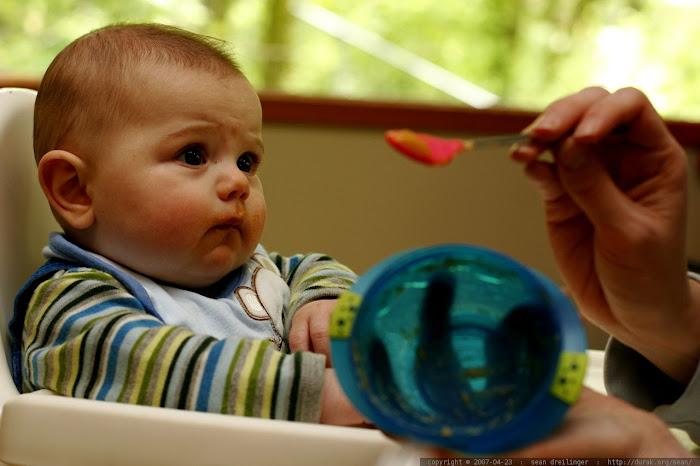 bayi makan sereal