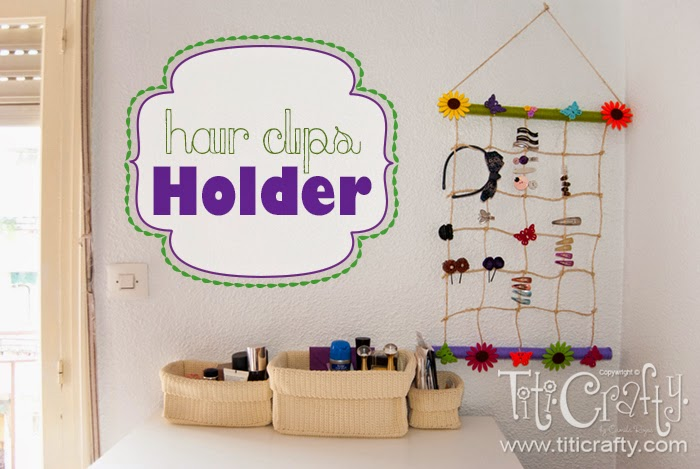 DIY Hair Clips Holder. Top 10 Post Features from Pin It Monday Hop #18