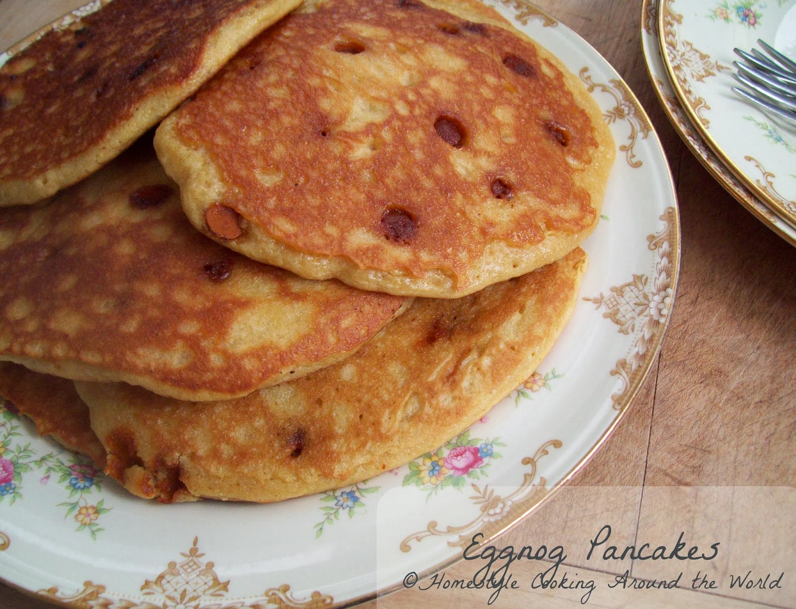 Homestyle Cooking Around The World: Eggnog Pancakes
