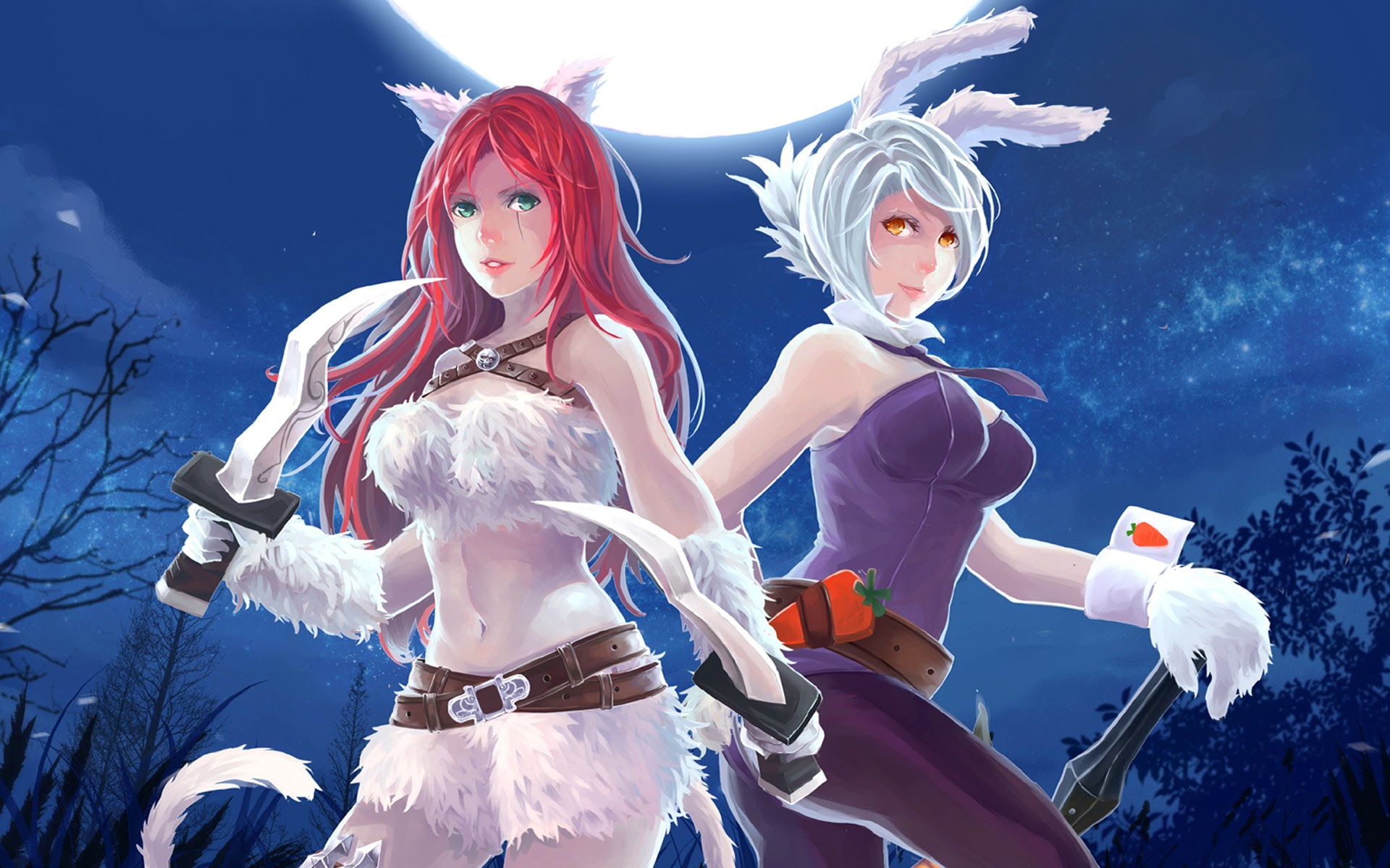 League Of Legends Battle Bunny Riven Wallpaper Download