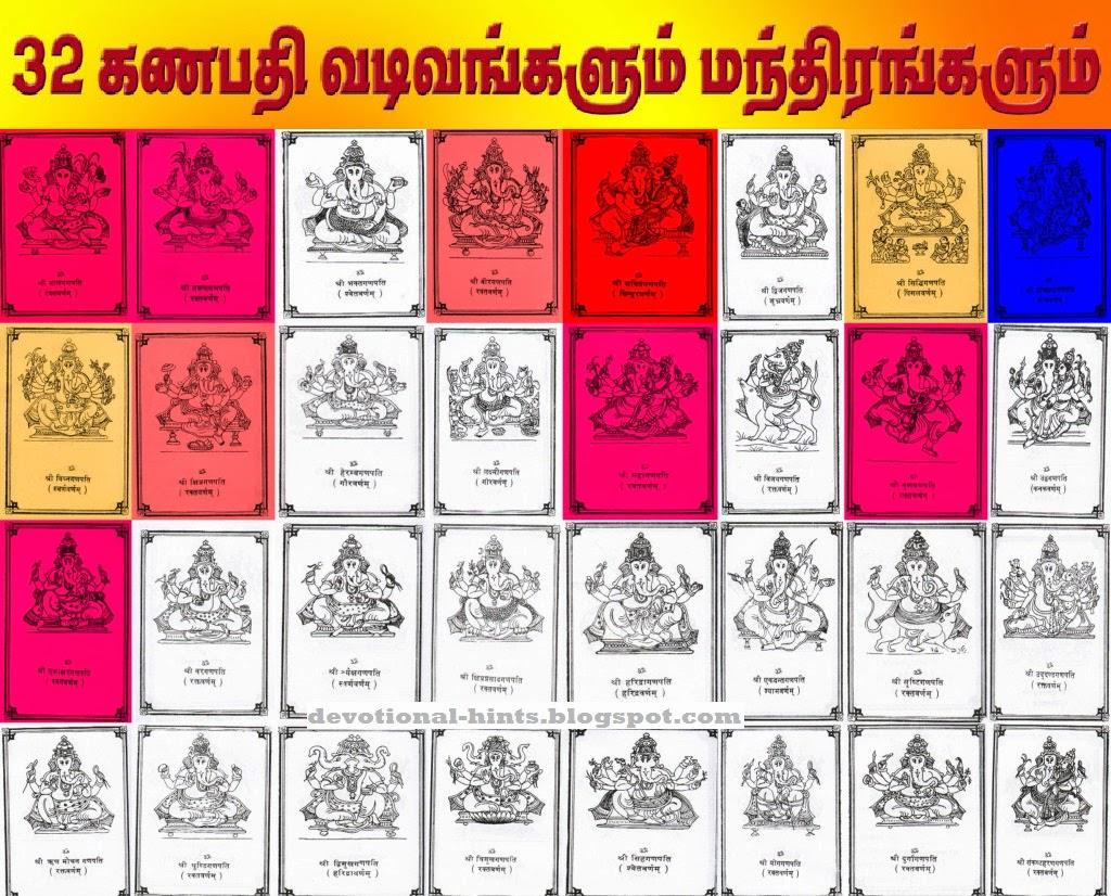 32 கணபதி வடிவங்களும்
