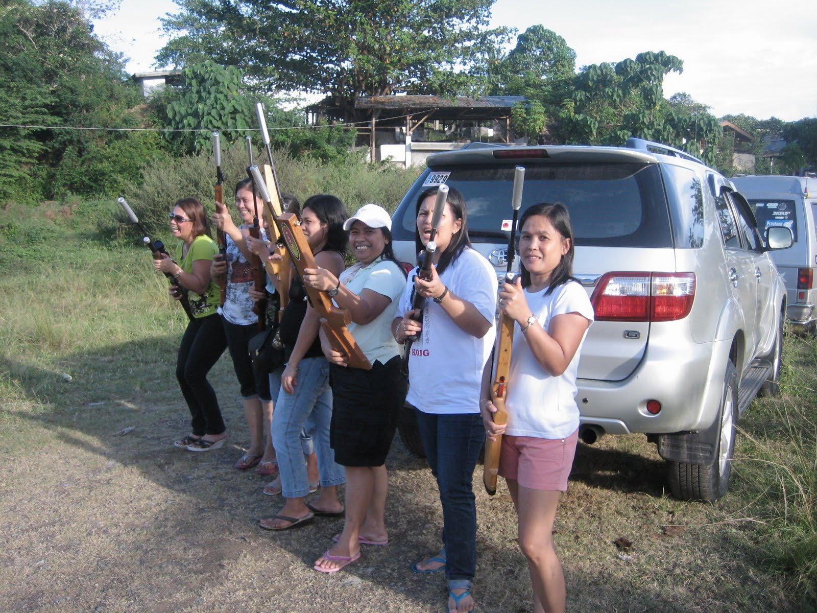 Lady shooters of the mati airgun shooting club