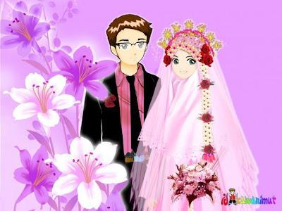 Gambar Kartun Pernikahan Muslim
