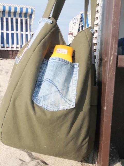 Strandtasche aus Armeeplane