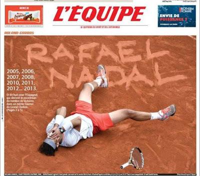 Portada del diario deportivo francés L'Équipe