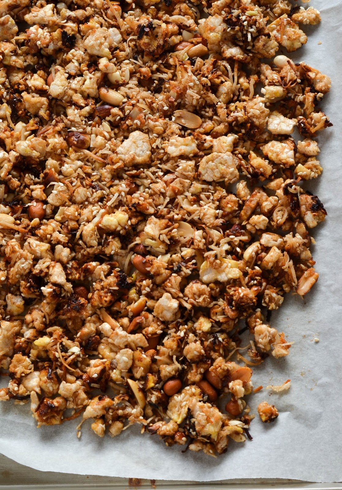 Meal times! /-/ Coconut rice cake granola |