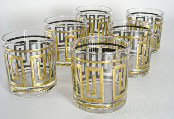 greek key tumblers