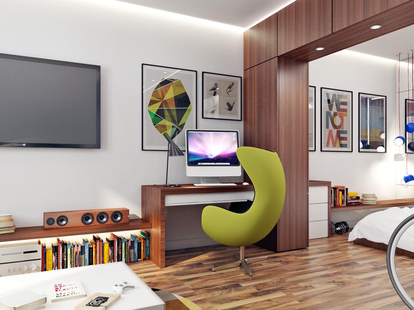M veis panejados e artefatos de a a z interior moderno for Sala de 9 metros quadrados