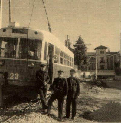 Llega el tranvia a Cájar el dia 30 de Abril 1921.