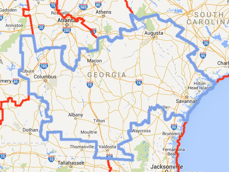 Georgia Macon Mission Map