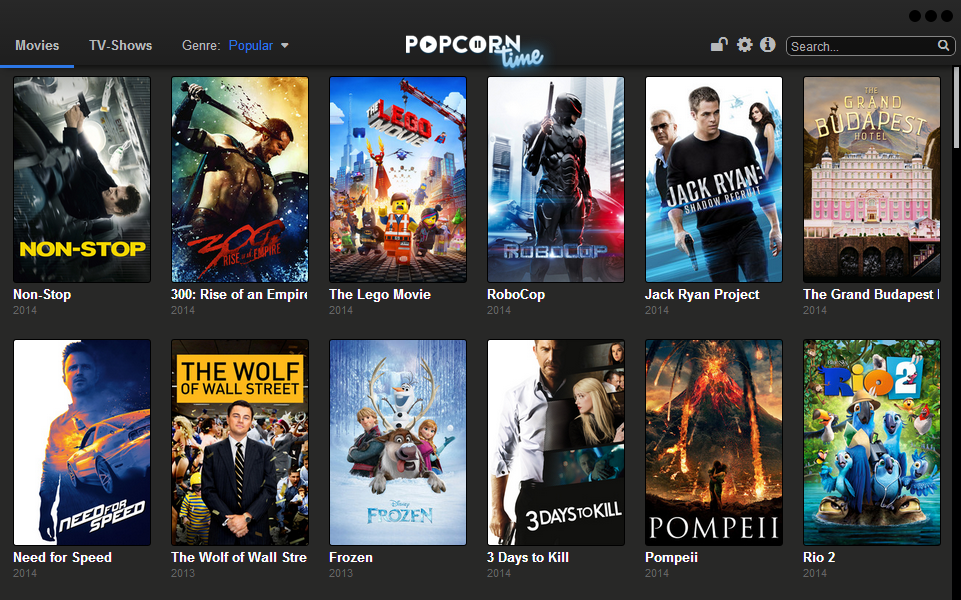 Popcorn Time torrent 串流(streaming)影音撥放軟體