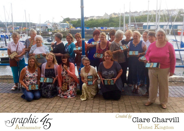 Graphic 45 Workshop with Clare Chervil at In House Crafts Milford Haven