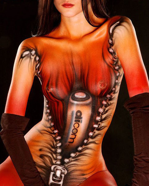 body paint girl sexy art pictorial reslating