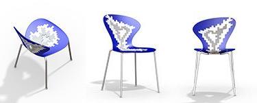 silla cocina azul