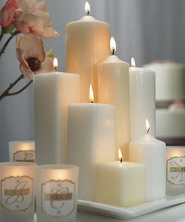 Pillar Candle Wedding Centerpieces Decoration